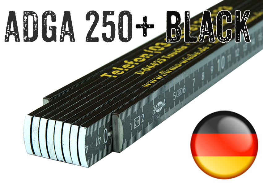 ADGA 250 Plus Schwarz - incl. Digitaldruck